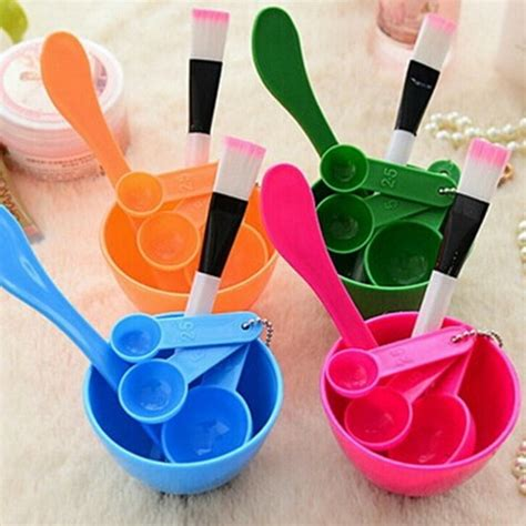 Mangkok Kuas Sendok Masker richelle shop 4in1 diy mask tool bowl mangkok