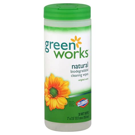 clorox green works cleaning wipes biodegradable natural original scent  wipes
