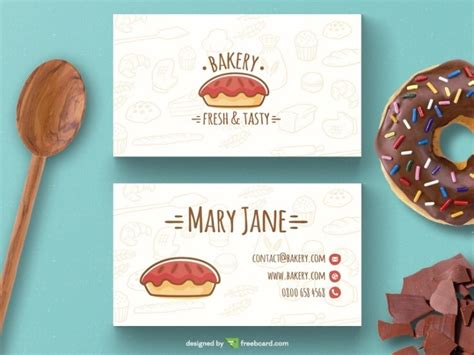 chocolate business card templates free bakery business card template free