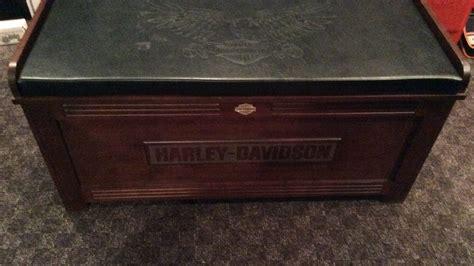 harley davidson bench harley davidson wood storage bench k93 las vegas