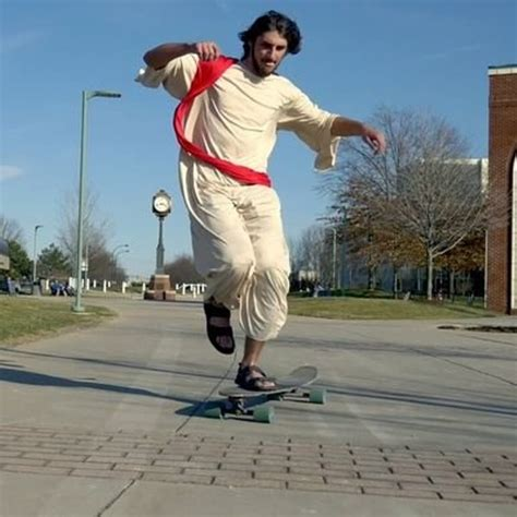 Longboard Giveaway 2017 - why one university of akron student longboards around cus dressed like jesus