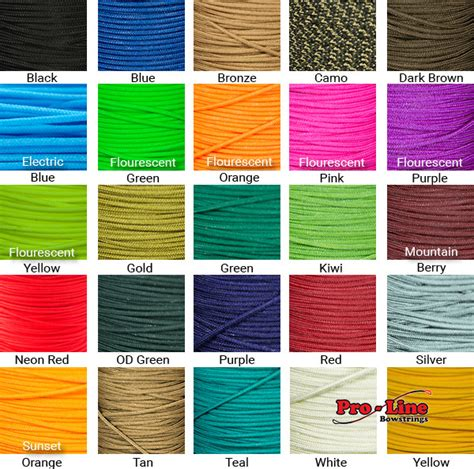 bow string colors proline bowstrings bcy 24 bowstring d loop material