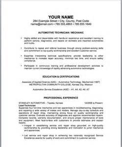 professional resume example sample resume for automotive