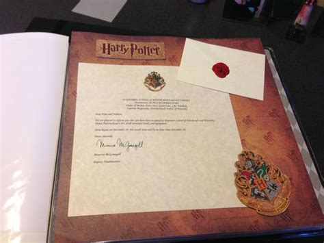 Hogwarts Acceptance Letter Wizarding World Visiting Wizarding World Of Harry Potter Scrapbook A Hogwarts Acceptance Letter Use Wax