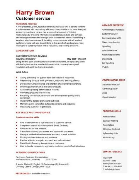 25 best ideas about customer service resume on resume format exles standard
