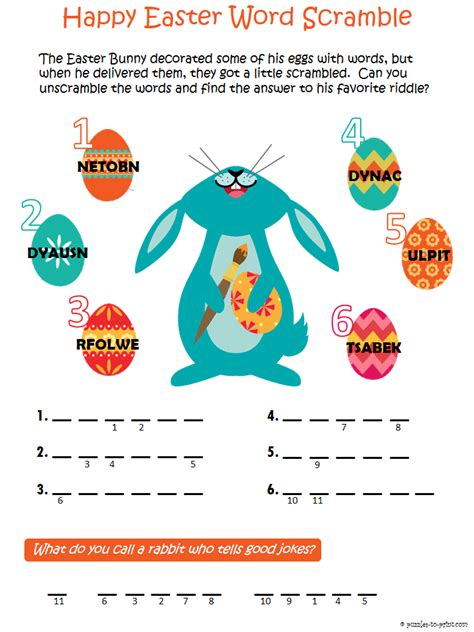 printable easter puzzle easter word scramble puzzle