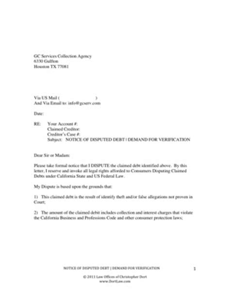Debt Collection Dispute Letter Template Uk Collection Agency Dispute Letter Template Letter Template 2017