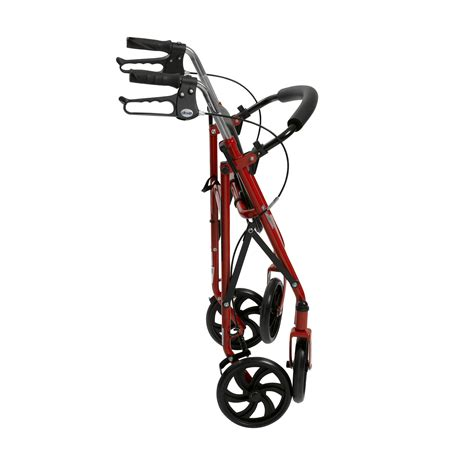folding rollator walker with seat rollator rolling walker folding seat basket included