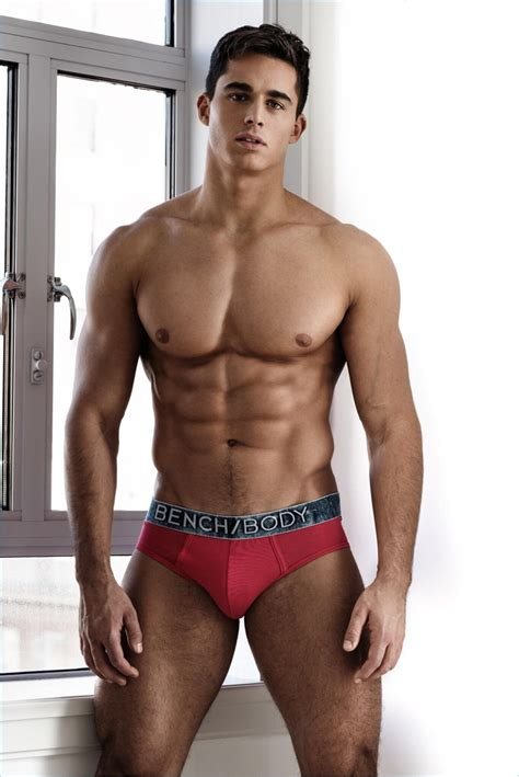 bench underwear model pietro boselli flexes for bench body s 2017 underwear