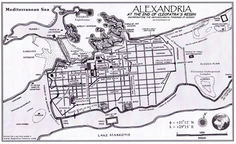 alexandria map map of alexandria at the end of cleopatra s