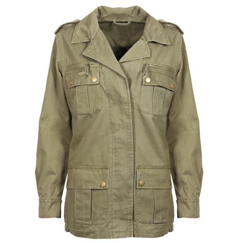 new womens khaki jacket coat camo camouflage pu