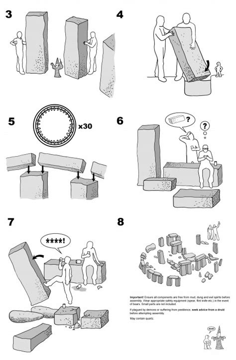 Instrucciones Ikea para construir Stonehenge | strambotic