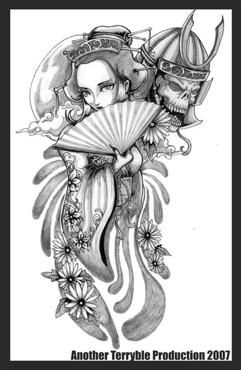 samurai geisha tattoo designs geisha and her samurai by terryrism on deviantart