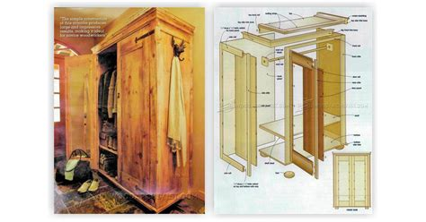 Armoire Wardrobe Plans by Rustic Armoire Plans Woodarchivist