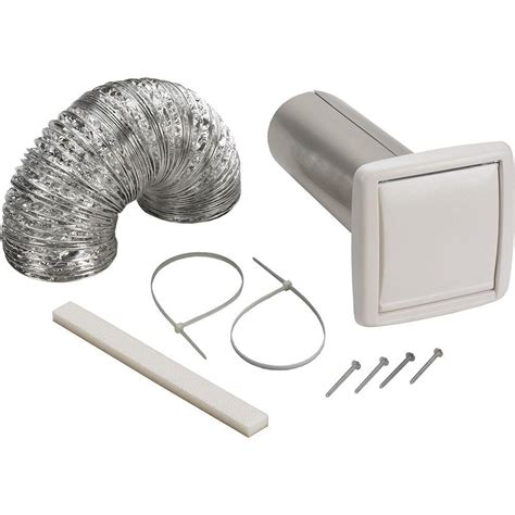 bathroom exhaust fan venting options broan wall vent ducting kit wvk2a the home depot