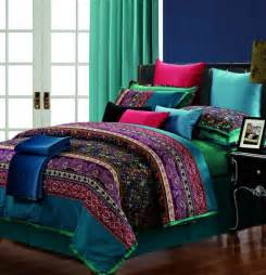 King Size Bedroom Quilt Sets Luxury Cotton Praisley Bedding Set King Size
