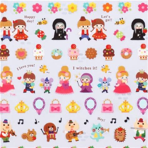 Sticker Small tiny tale stickers from japan snow white witch
