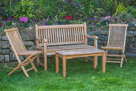 bench outdoor setting teak garden bench and table set garden furniture land
