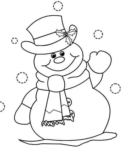 imagenes de santa claus y muñecos de nieve mu 241 ecos de nieve navide 241 os para colorear
