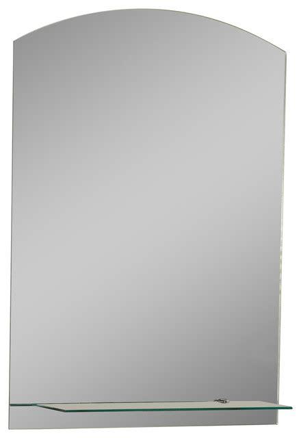 frameless contemporary bathroom mirror with shelf in the arch frameless mirror with shelf modern bathroom