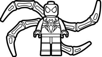 lego iron spiderman coloring coloring book kids fun art kids