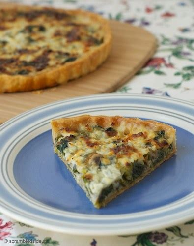 Spinach Mushroom And Cottage Cheese Quiche For Easter Spinach Cottage Cheese Quiche