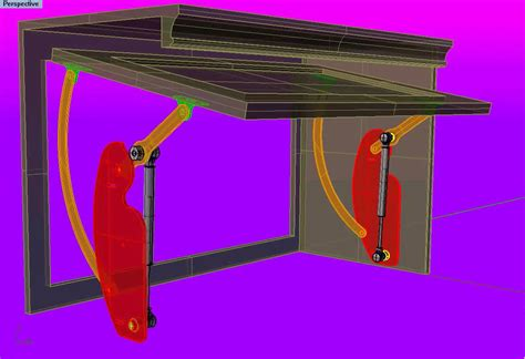 Flip Up Cabinet Door Hardware Flip In Hinge Front View