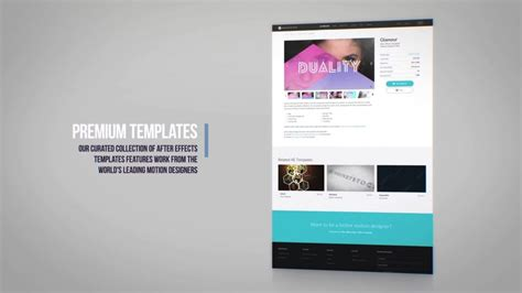 template after effects website header website promo after effects template