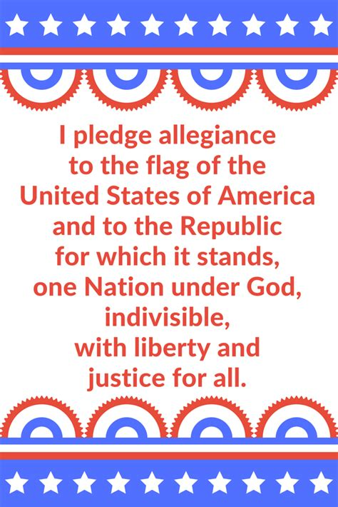 Printable Pledge Of Allegiance and spoons pledge of allegiance printable