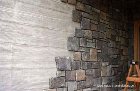 Exterior Wall Thickness by Natural Stone Thin Veneer Thin Stone Facade Thick