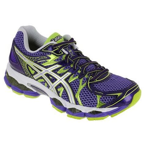supinate running shoes gel nimbus purple green neutral supination womens running