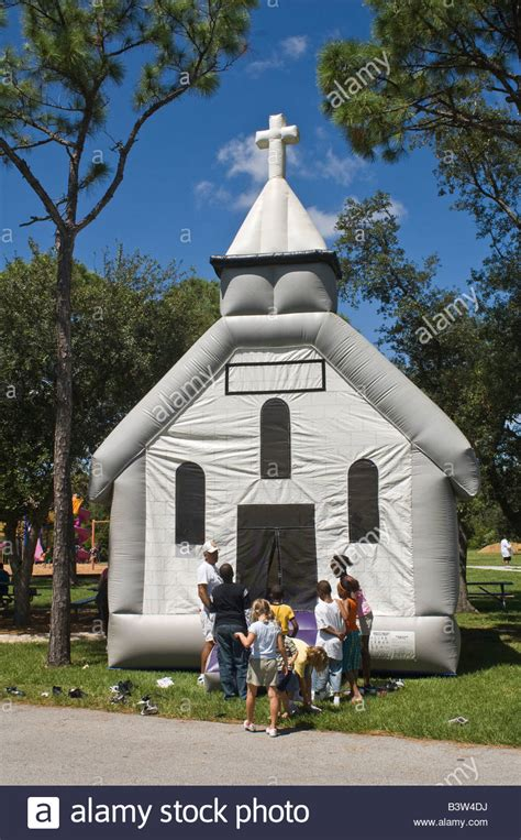 buy inflatable bounce house inflatable church bounce house at event stock photo royalty free image 19606654 alamy