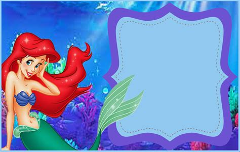 printable birthday invitations little mermaid little mermaid free printable invitation templates