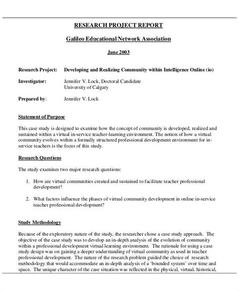 Community Development Report Template 11 Sle Research Report Free Sle Exle Format