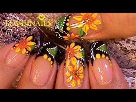 imagenes de uñas decoradas girasoles como pintar girasoles en sus u 241 as esta primavera paso a