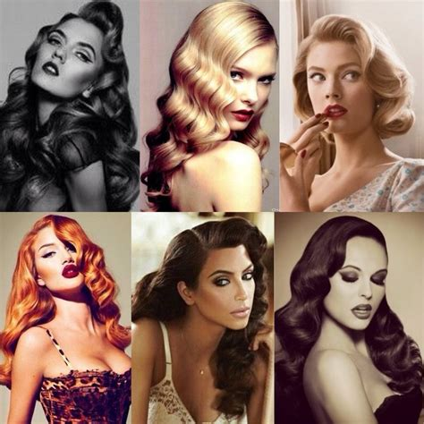 how stylist curled your hair in the 50s and 60s 20 stylish retro wavy hairstyle tutorials and hair looks