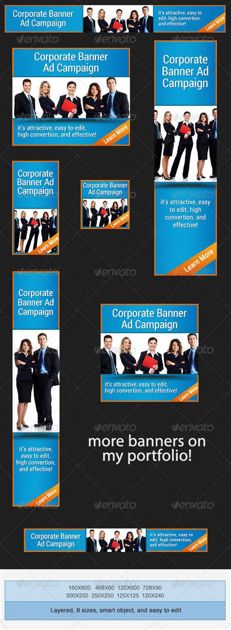 corporate psd banner ad template by admiral adictus