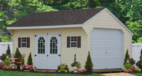 Single Garage Shed Prices by Affordable One Car Garages In Wood And Vinyl See Prices