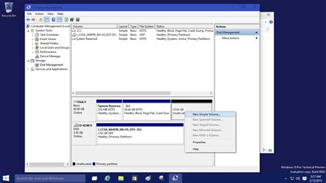 format without cd drive partition and format a new hard drive in windows 10