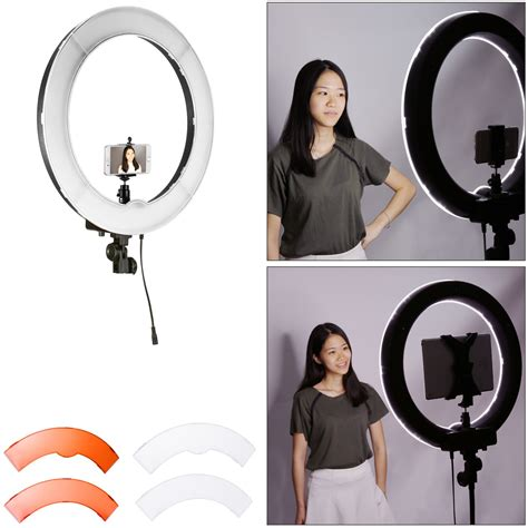 neewer led ring light neewer photo led ring light 18 quot outer 55w