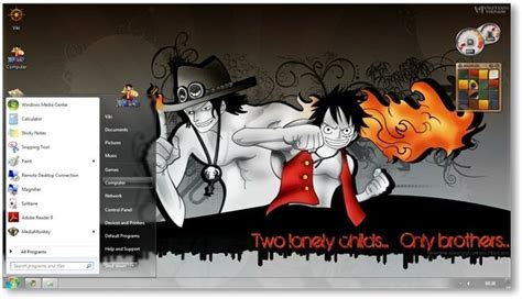 themes ps4 one piece one piece theme for windows 7 and 8 anime themes