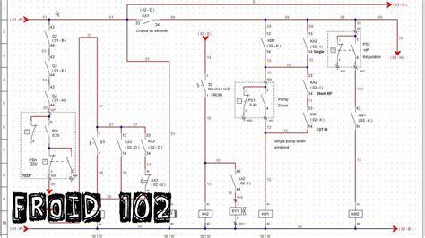 schema electrique chambre froide froid102 montage 3 r 233 armement automatique chaine de