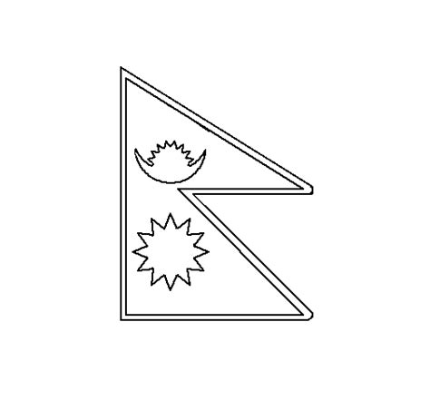 nepal map coloring page free coloring pages of flag of nepal