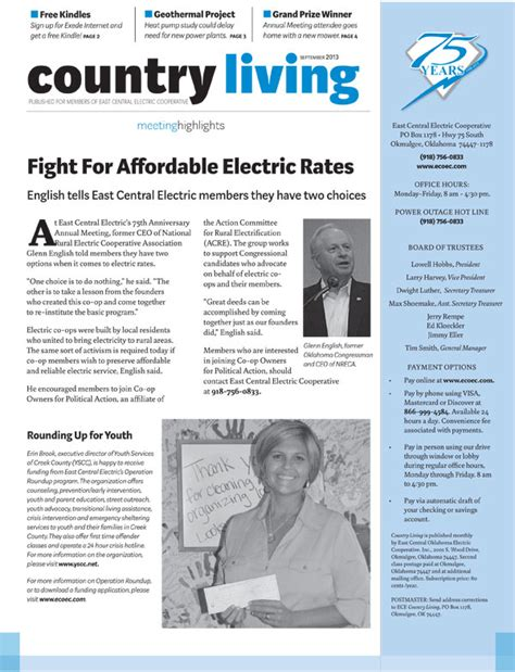 country living east central oklahoma electric cooperative