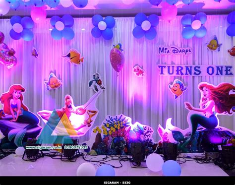 decoration images mermaid themed birthday decoration celebration pondicherry 171 wedding decorators