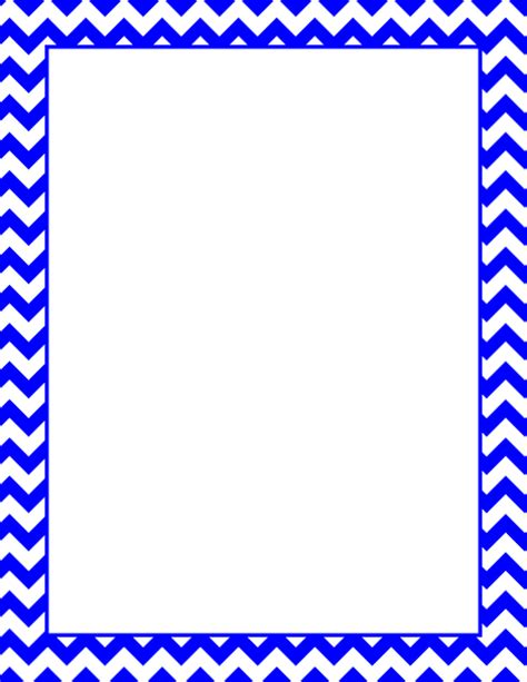 chevron border template printable blue chevron border free gif jpg pdf and png