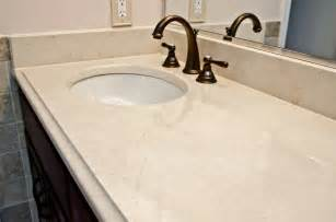 Marble Bathroom Countertops Crema Marfil Marble Modern Vanity Tops And Side