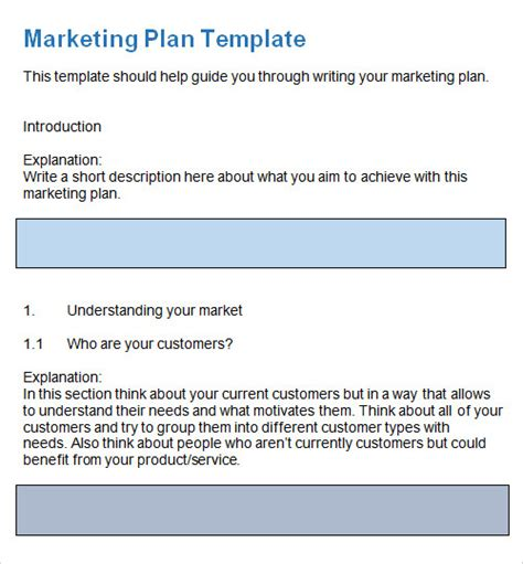27 Plan Templates Sle Templates Service Marketing Plan Template