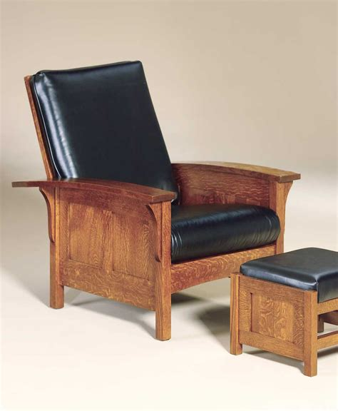 Morris Chair by Bow Arm Panel Morris Chair Amish Direct Furniture
