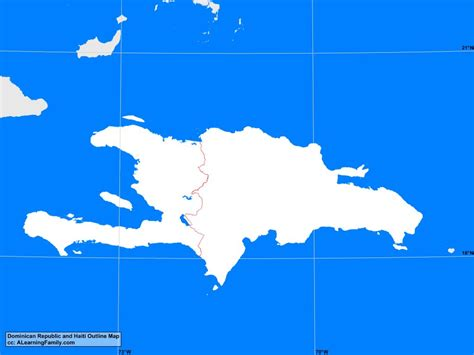 map of republic republic and haiti outline map a learning family